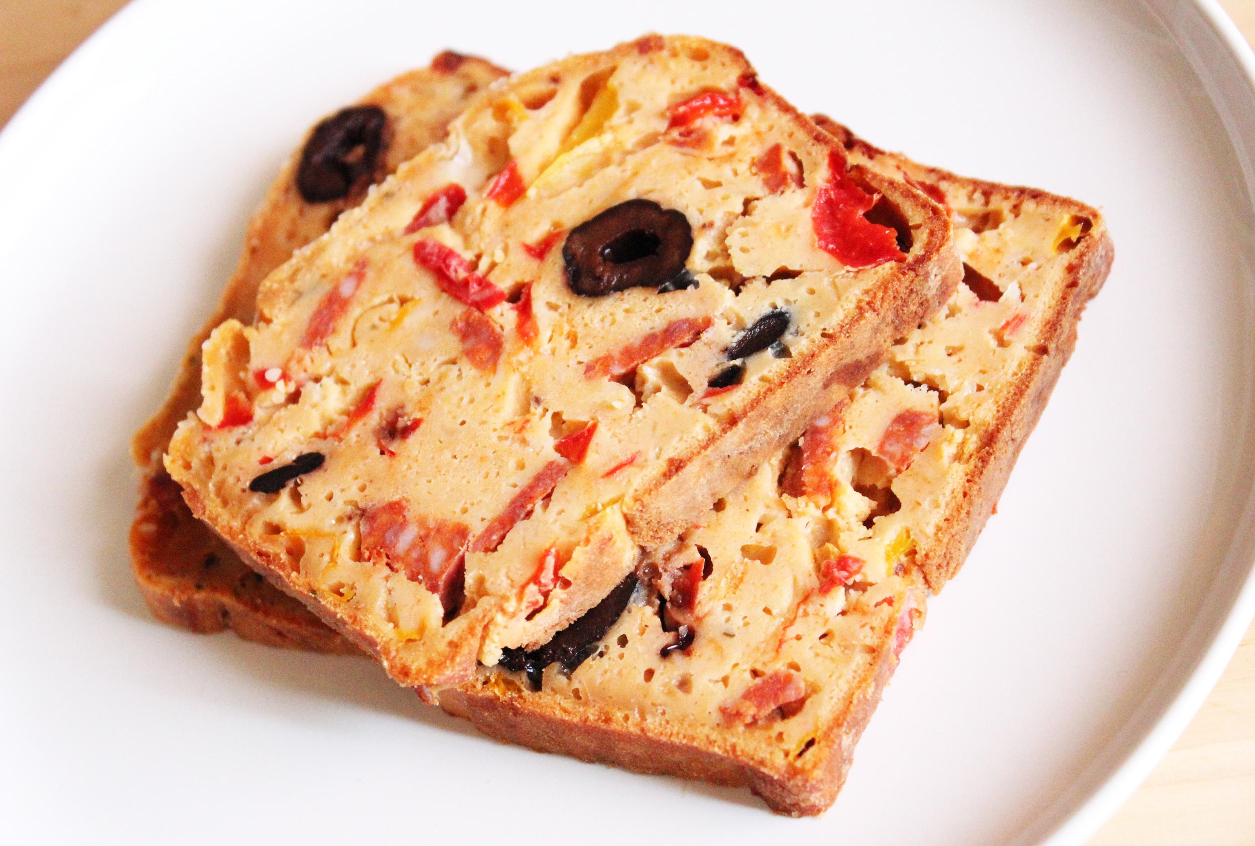 Cake Poivrons Et Chorizo