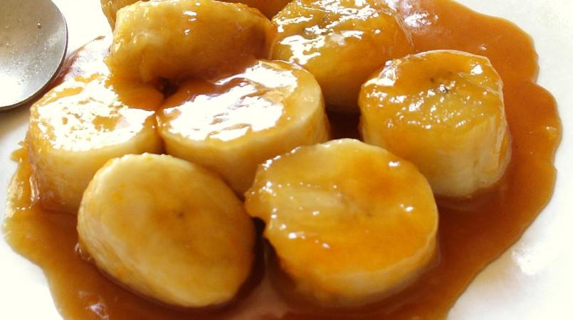 Bananes caramélisées et crème vanille