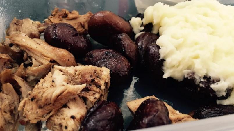 Caille aux marrons et purée de pomme de terre