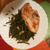 Haricot vert façon Nounou et son blanc de poulet