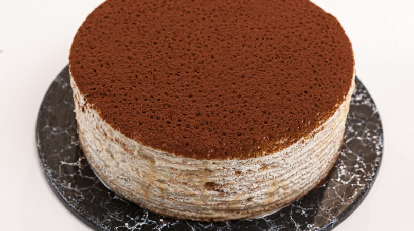 Gâteau de crêpes au mascarpone et confiture de lait