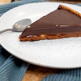 Tarte «Triple C» (Chocolat/Cacahuètes/Caramel)