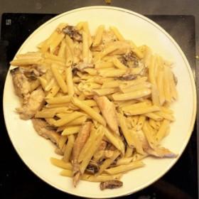 Pâtes poulet-champignons
