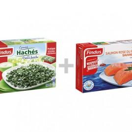 Les Saumons et Épinards Findus: -2€ sur 2 produits
