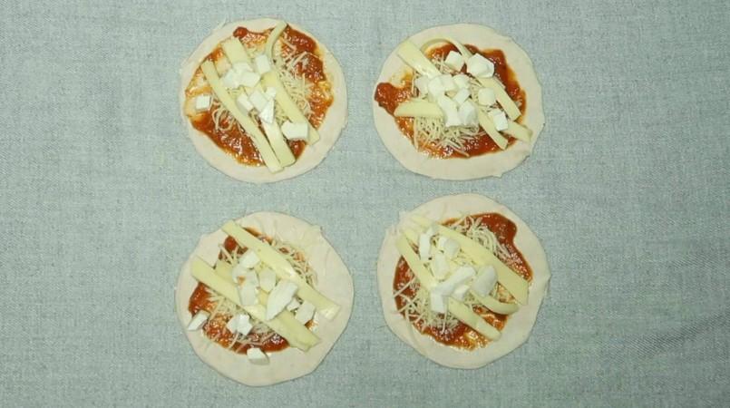 Les mini-pizzas