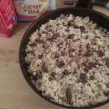 Crumble aux pommes - chocolat