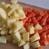 Poêlée de carottes, pommes de terre et tofu BIO
