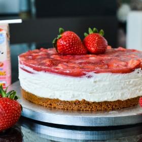 Cheescake aux fraises et au Cacolac