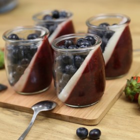 Panna cotta fruits rouges