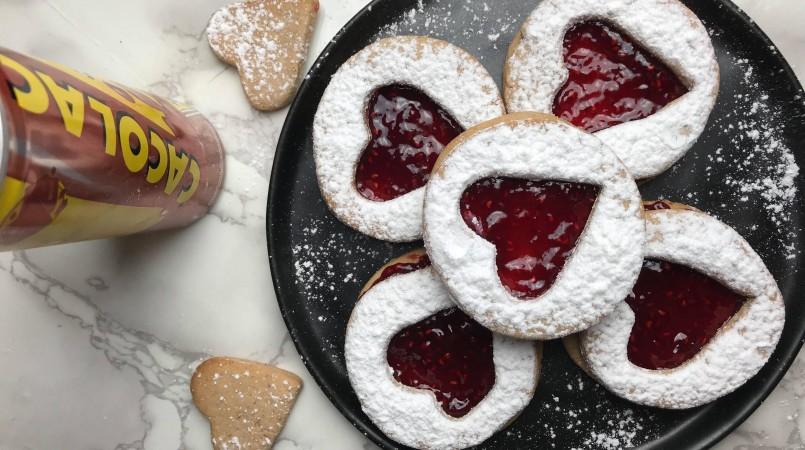Biscuits Saint-Valentin au Cacolac