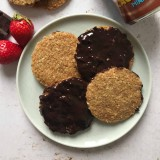 Biscuits suédois flocons d'avoine et chocolat