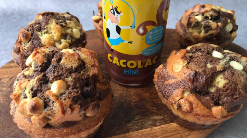 Muffins au chocolat & chunks de chocolat blanc
