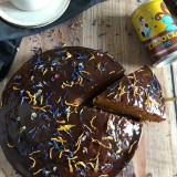 Carrot, Cacolac & chocolate cake