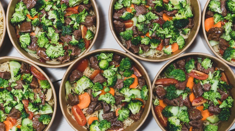 Bowl boeuf brocoli nouilles