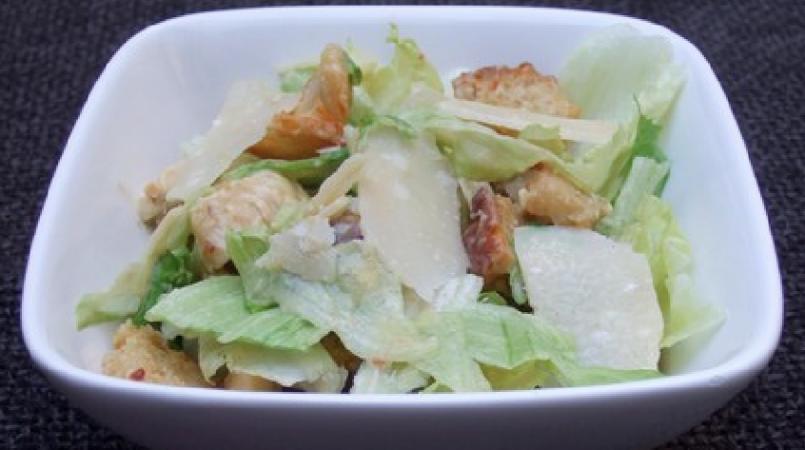Salade césar avec sa sauce light