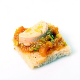 Foie gras à la figue et l'oignon