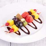 Brochette de Fruits sauce chocolat