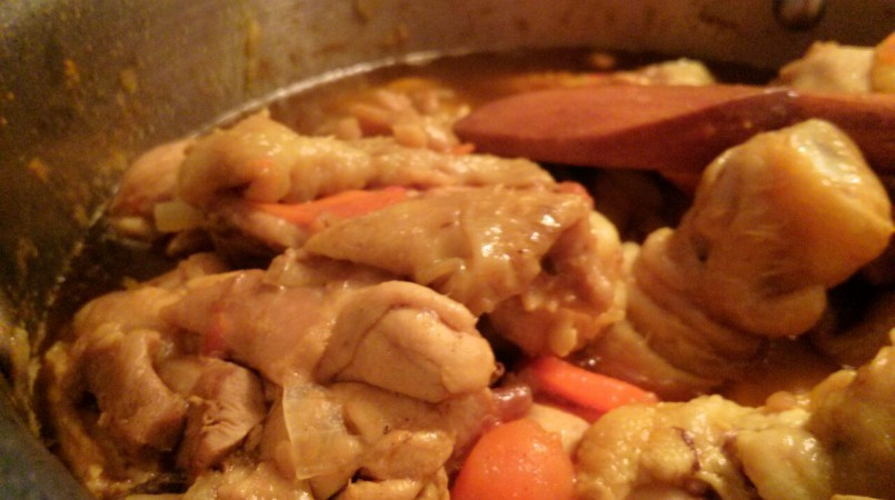 Poulet fondant curry coco