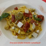 One pan pasta tomate-artichaut