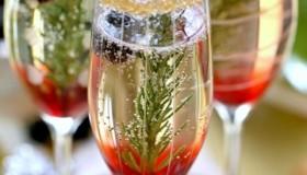 Cocktails au champagne pour le nouvel an