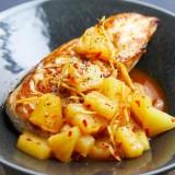 Poulet au miel, soja et ananas