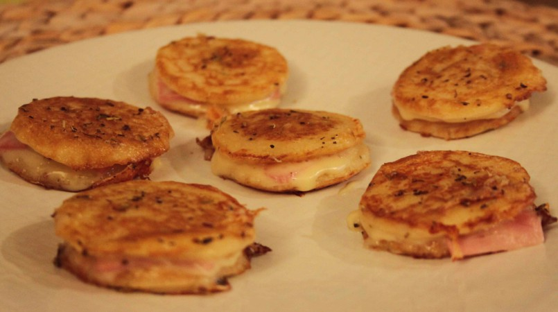 Mini blinis fa on croque monsieur cuisine ta m re - Recette croque monsieur four ...