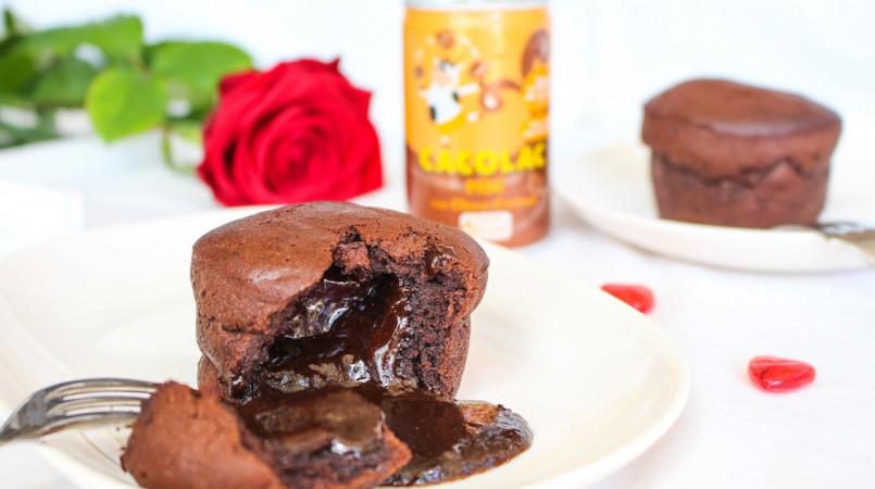 Fondant chocolat, Cacolac & coeur coulant au caramel beurre salé