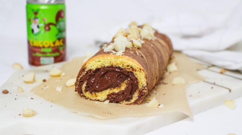 Roulé Cacolac chocolat-noisettes