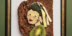 Il reproduit des œuvres d'art célèbres avec du fromage