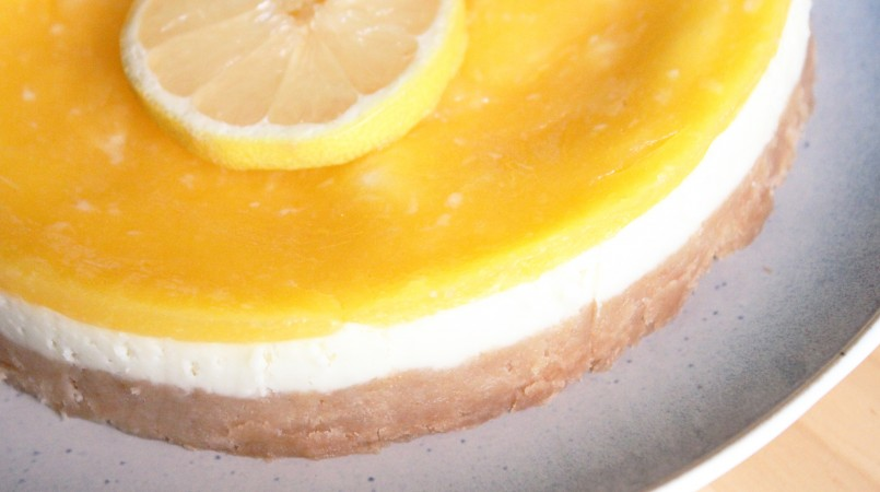 Cheesecake au citron et aux langues de chat