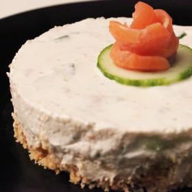 Cheesecake salé au saumon
