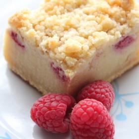 Crumb cake aux framboises