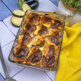 Lasagnes d'aubergines à la mozza