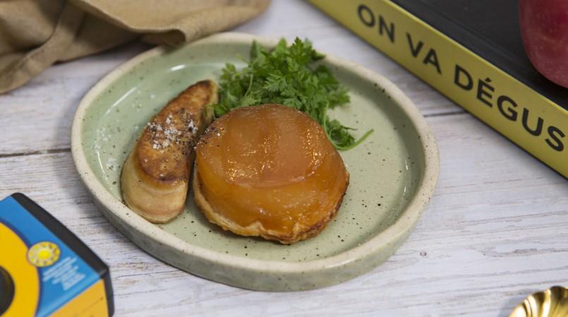 Tarte Tatin aux pommes et escalope de Foie Gras
