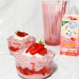 Riz au lait à la fraise