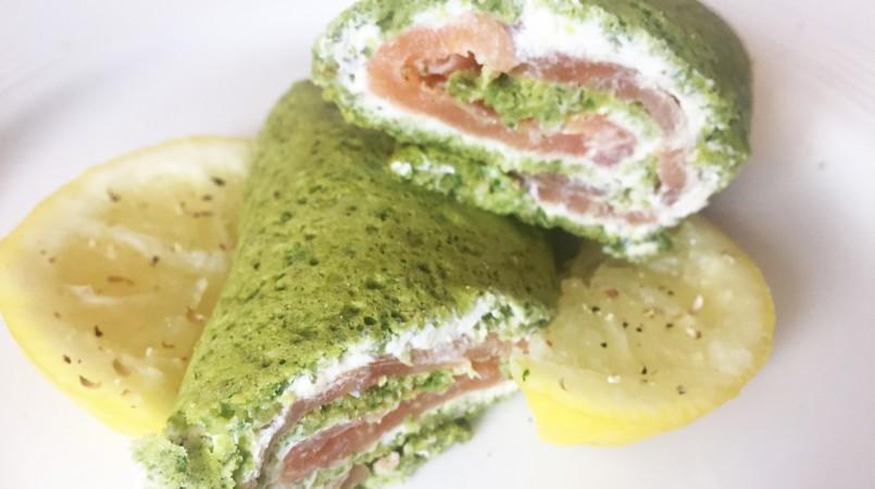 Wraps épinards saumon