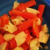 Boule d'or et carottes à la vapeur