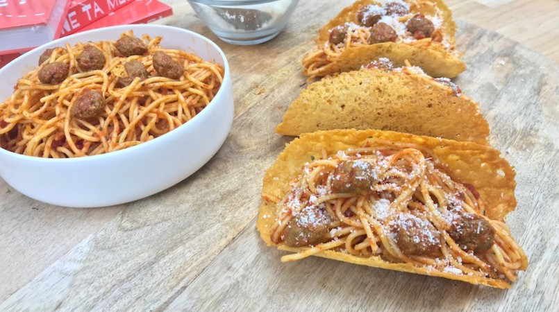 Tacos bolognaise
