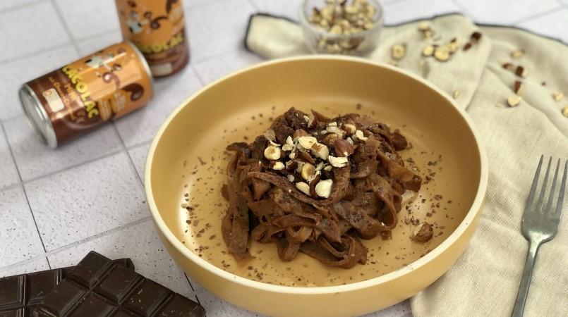 Tagliatelles de Cacolac choco-caramel