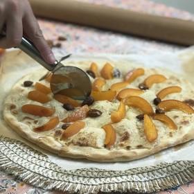 Tarte aux abricots façon pizza