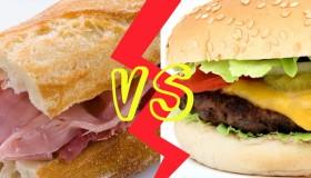 Le jambon/beurre vs le burger