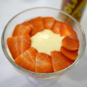 Mousse chocolat blanc fraises