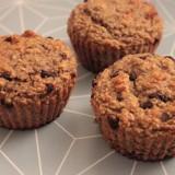 Muffins banane, avoine et pépites de chocolat