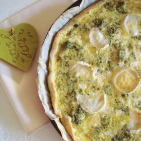 Quiche aux brocolis et aux deux fromages