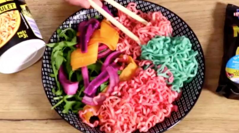 Recette : les noodles licorne de Lustucru