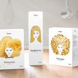 Ces packagings qui transforment les pâtes en cheveux !