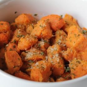 Poêlée de patates douces au parmesan