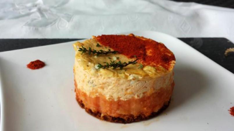 Cheesecake pomme de terre, parfumé thym et paprika