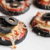 Mini-pizza d'aubergine
