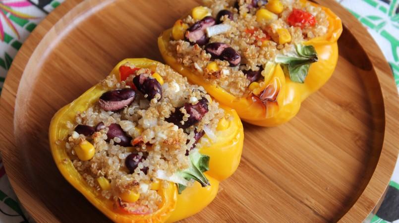 Poivrons farcis au quinoa - Cuisine Ta Mère